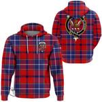1stScotland Hoodie - Wishart Dress Clan Tartan Crest Hoodie A7
