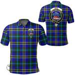 1stScotland Clothing - Weir Modern Clan Tartan Crest Polo Shirt A7