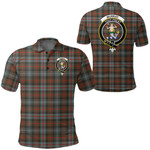 1stScotland Clothing - Murray Of Atholl Weathered Clan Tartan Crest Polo Shirt A7