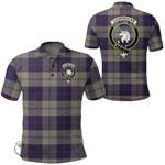 1stScotland Clothing - Cunningham Dress Blue Dancers Clan Tartan Crest Polo Shirt A7