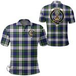 1stScotland Clothing - Gordon Dress Modern Clan Tartan Crest Polo Shirt A7