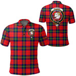 1stScotland Clothing - Ruthven Modern Clan Tartan Crest Polo Shirt A7