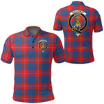 1stScotland Clothing - Galloway Red Clan Tartan Crest Polo Shirt A7