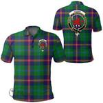 1stScotland Clothing - Young Modern Clan Tartan Crest Polo Shirt A7