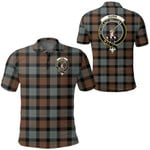 1stScotland Clothing - Gunn Weathered Clan Tartan Crest Polo Shirt A7