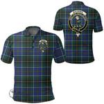 1stScotland Clothing - Macinnes Modern Clan Tartan Crest Polo Shirt A7