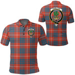 1stScotland Clothing - Hamilton Ancient Clan Tartan Crest Polo Shirt A7