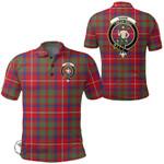1stScotland Clothing - Shaw Red Modern Clan Tartan Crest Polo Shirt A7