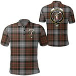 1stScotland Clothing - Macrae Hunting Weathered Clan Tartan Crest Polo Shirt A7