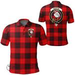 1stScotland Clothing - Wemyss Modern Clan Tartan Crest Polo Shirt A7