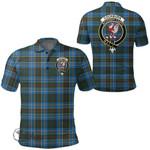 1stScotland Clothing - Cockburn Modern Clan Tartan Crest Polo Shirt A7