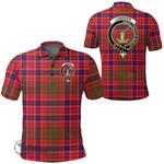 1stScotland Clothing - Lumsden Modern Clan Tartan Crest Polo Shirt A7