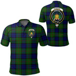 1stScotland Clothing - Dundas Modern 02 Clan Tartan Crest Polo Shirt A7
