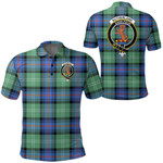 1stScotland Clothing - Sutherland Old Ancient Clan Tartan Crest Polo Shirt A7