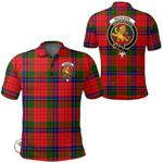 1stScotland Clothing - Nicolson Modern Clan Tartan Crest Polo Shirt A7