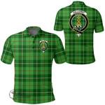 1stScotland Clothing - Galloway District Clan Tartan Crest Polo Shirt A7