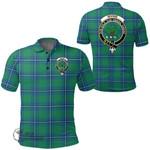1stScotland Clothing - Irvine Ancient Clan Tartan Crest Polo Shirt A7