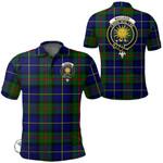 1stScotland Clothing - Macleod Of Harris Modern Clan Tartan Crest Polo Shirt A7