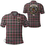 1stScotland Clothing - Borthwick Ancient Clan Tartan Crest Polo Shirt A7