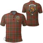 1stScotland Clothing - Mackintosh Hunting Weathered Clan Tartan Crest Polo Shirt A7