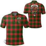 1stScotland Clothing - Pollock Modern Clan Tartan Crest Polo Shirt A7