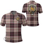 1stScotland Clothing - Macpherson Hunting Ancient Clan Tartan Crest Polo Shirt A7