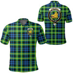1stScotland Clothing - Campbell Of Breadalbane Ancient Clan Tartan Crest Polo Shirt A7