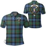1stScotland Clothing - Macrae Hunting Ancient Clan Tartan Crest Polo Shirt A7
