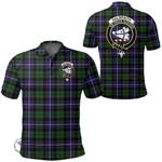 1stScotland Clothing - Galbraith Modern Clan Tartan Crest Polo Shirt A7