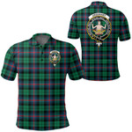 1stScotland Clothing - Urquhart Broad Red Ancient Clan Tartan Crest Polo Shirt A7