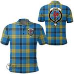 1stScotland Clothing - Laing Clan Tartan Crest Polo Shirt A7