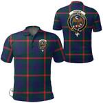 1stScotland Clothing - Agnew Modern Clan Tartan Crest Polo Shirt A7