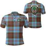 1stScotland Clothing - Anderson Ancient Clan Tartan Crest Polo Shirt A7
