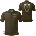 1stScotland Clothing - Gray Hunting Clan Tartan Crest Polo Shirt A7