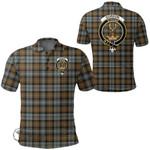1stScotland Clothing - Gordon Weathered Clan Tartan Crest Polo Shirt A7