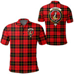 1stScotland Clothing - Wallace Hunting Red Clan Tartan Crest Polo Shirt A7