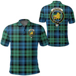 1stScotland Clothing - Campbell Ancient Clan Tartan Crest Polo Shirt A7
