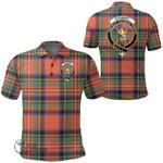 1stScotland Clothing - Stewart Royal Ancient Clan Tartan Crest Polo Shirt A7