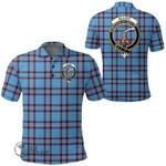 1stScotland Clothing - Elliot Ancient Clan Tartan Crest Polo Shirt A7