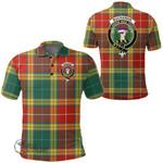 1stScotland Clothing - Buchanan Old Sett Clan Tartan Crest Polo Shirt A7