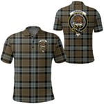 1stScotland Clothing - Graham Of Menteith Weathered Clan Tartan Crest Polo Shirt A7