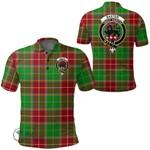 1stScotland Clothing - Baxter Clan Tartan Crest Polo Shirt A7