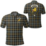 1stScotland Clothing - Campbell Argyll Weathered Clan Tartan Crest Polo Shirt A7
