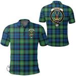 1stScotland Clothing - Gordon Ancient Clan Tartan Crest Polo Shirt A7