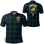 1stScotland Clothing - Campbell Modern Clan Tartan Crest Polo Shirt A7