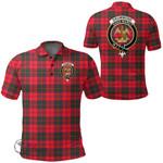 1stScotland Clothing - Drummond Modern Clan Tartan Crest Polo Shirt A7