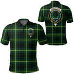 1stScotland Clothing - Macarthur Modern Clan Tartan Crest Polo Shirt A7