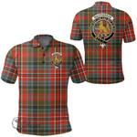 1stScotland Clothing - Macpherson Weathered Clan Tartan Crest Polo Shirt A7