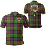 1stScotland Clothing - Macdonald Of Clanranald Clan Tartan Crest Polo Shirt A7