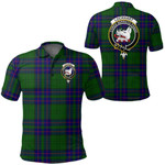 1stScotland Clothing - Lockhart Clan Tartan Crest Polo Shirt A7